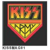 KISS - Metal Magnet Square (Army)